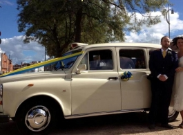 White London Taxi wedding car hire in Aldershot
